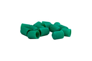 Green valve stem caps for nitrogen-filled tires